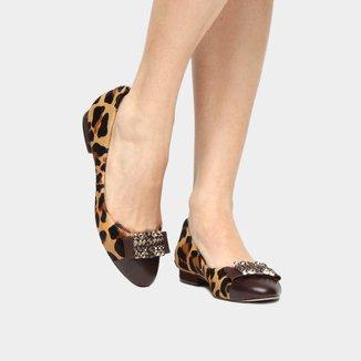 Sapatilha Couro Shoestock Pedras Feminina