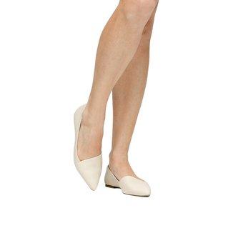 Sapatilha Couro Shoestock Recorte Minimal Feminina