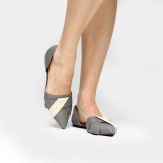 Sapatilha Couro Shoestock Semi Double Bowl Feminina