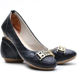 Sapatilha DED Calçados Bico Redondo Metalassê Feminina