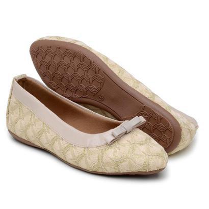 Sapatilha Gomes Shoes Renda Bico Fino Feminina-Feminino