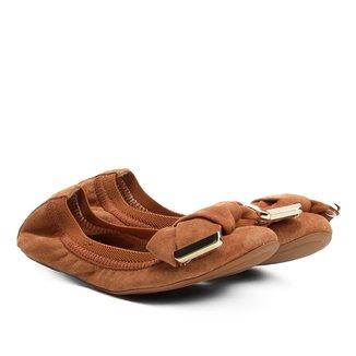 Sapatilha Infantil Couro Shoestock Elástico Camurça