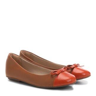 Sapatilha Infantil Couro Shoestock Laço Feminina