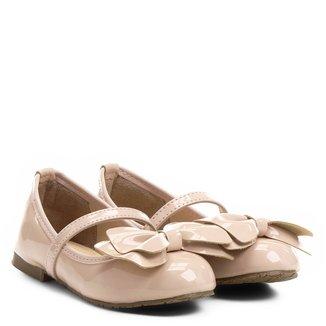 Sapatilha Infantil Couro Shoestock Tira Laço Feminina