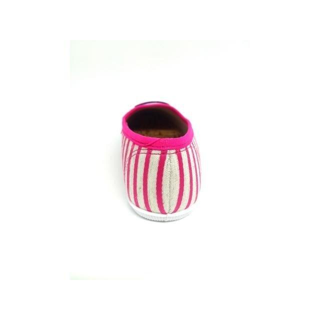 Sapatilha Infantil Molekinha Listrada Arco Iris Feminina Pink