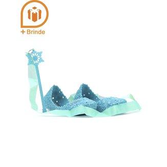 Sapatilha Infantil Para Menina Disney Frozen Azul