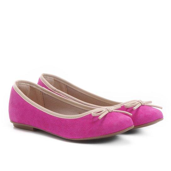 Sapatilha Infantil Shoestock Verniz Feminina - Pink