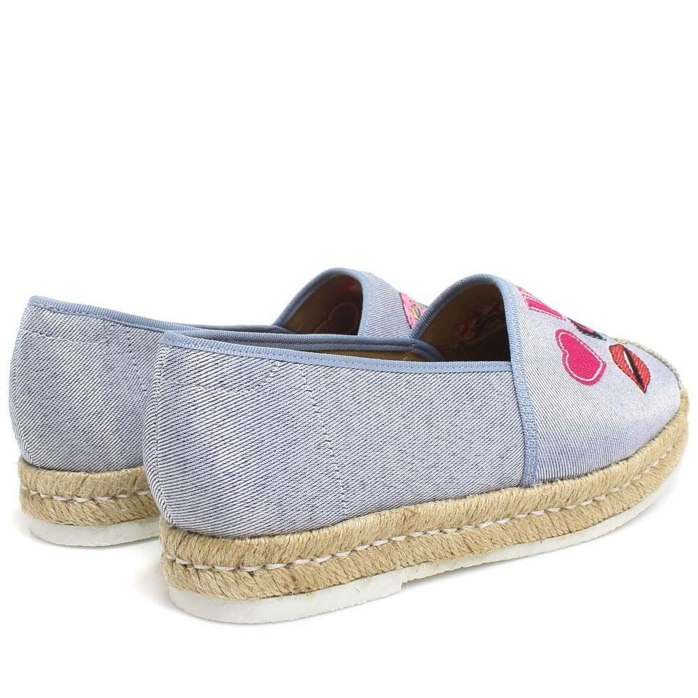 Shoes Azul Sapatilha Zariff Patches Feminino Jeans Sapatilha Jeans Xqyza