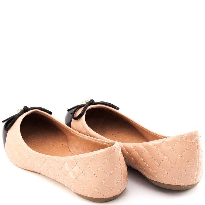 Sapatilha Sapato Show Sapatilha Sapato e Preto Pingentes Nude Feminina Laço Pingentes Show Laço 1qdwdAI
