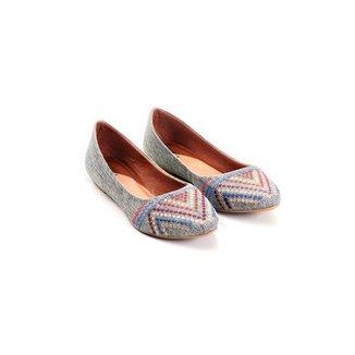 Sapatilha Linho Mizzi Shoes Bordado Feminina