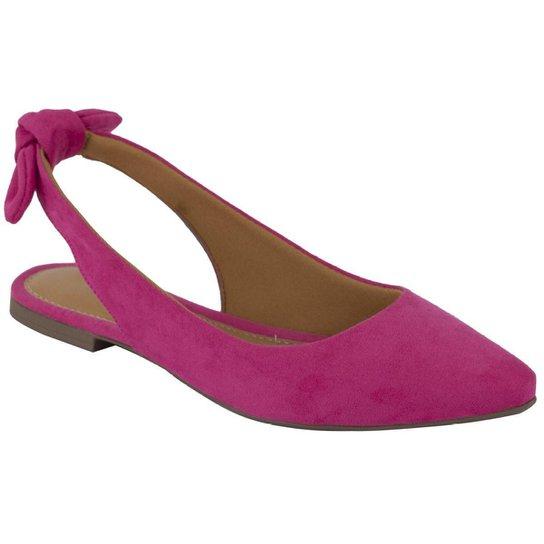 Sapatilha Lumiss Rasteirinha Slingback Confort Feminina - Pink