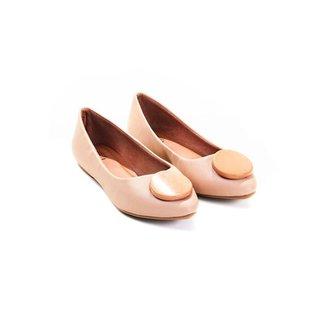 Sapatilha Mizzi Shoes Perlato com Botom Feminina