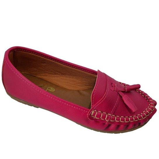 Sapatilha Mocassim Feminino Costurado À Mão Moda Pé - Pink