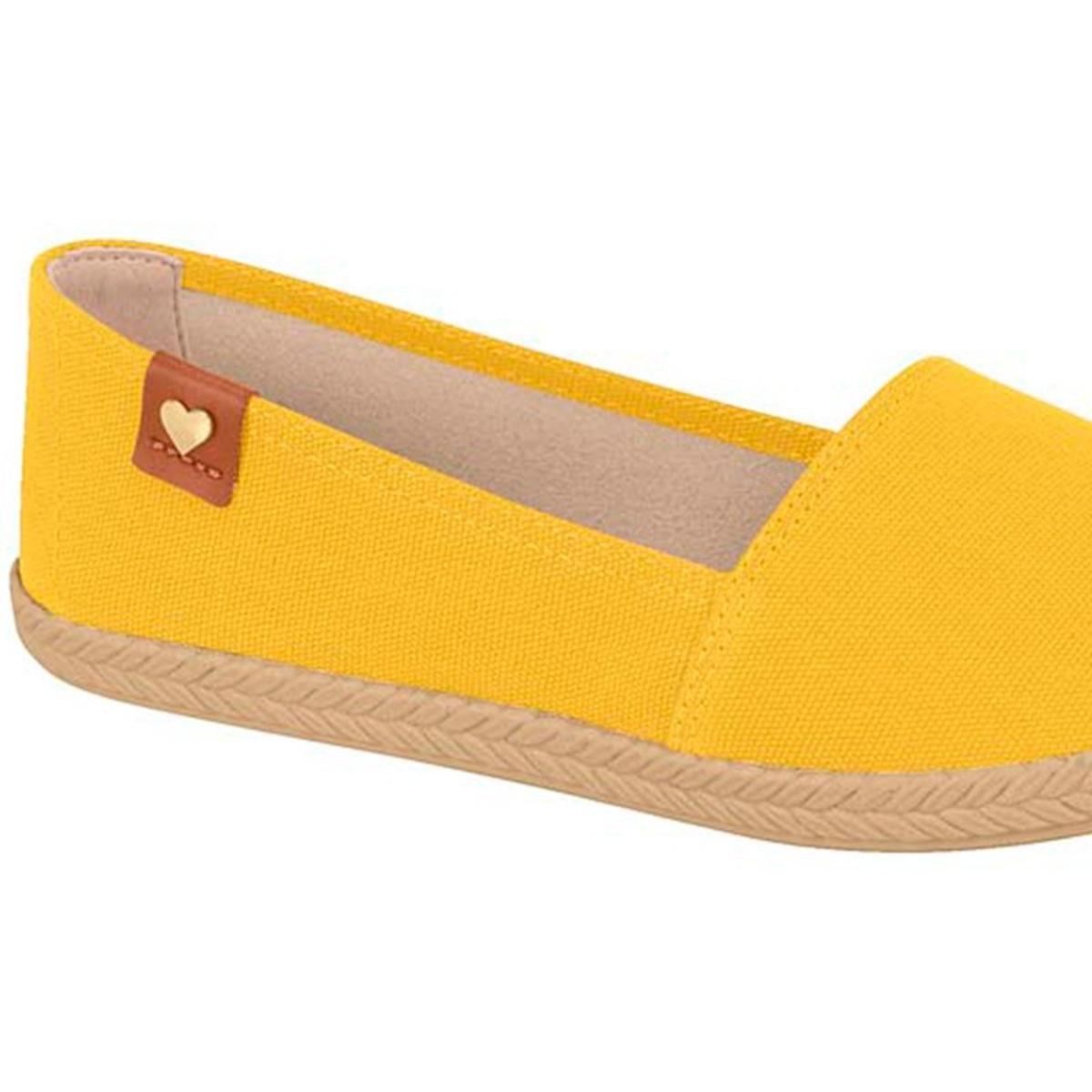 Sapatilha Moleca Lona Feminina - Amarelo