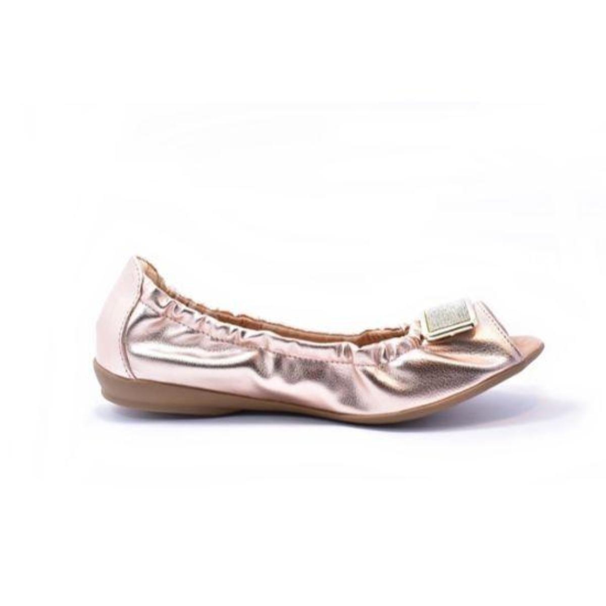 Sapatilha feminina tamanho grande peep toe renata della