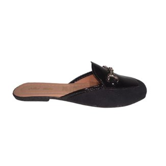 Sapatilha Sapato Feminina Mule Conforto Rasteira Sem Salto