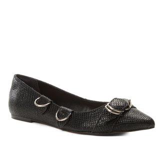 Sapatilha Shoestock Bico Fino Argolas Snake Feminina