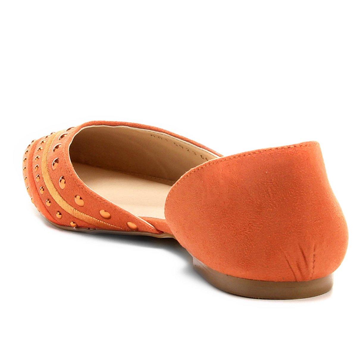 Shoestock Laranja Bico Sapatilha Shoestock Feminina Sapatilha Fino qEwxT