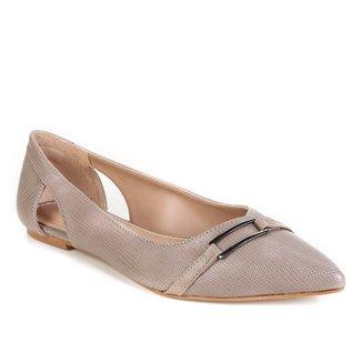 Sapatilha Shoestock Bico Fino Lezard Feminina