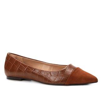 Sapatilha Shoestock Bico Fino Straps Feminina