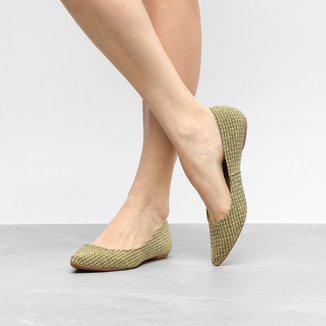 Sapatilha Shoestock Bico Fino Trama Feminina