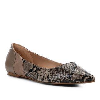 Sapatilha Shoestock Bico Fino Wild Snake Feminina