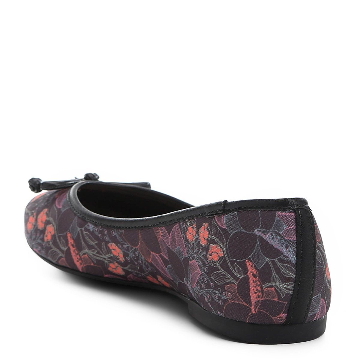 Rosa Shoestock Preto Sapatilha Sapatilha Rosa Bico Shoestock Redondo Redondo Preto Feminina Estampada e Estampada Bico e Feminina SawBq