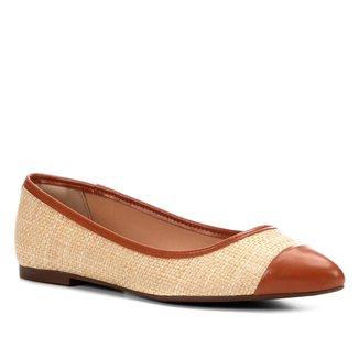 Sapatilha Shoestock Bicolor Bico Fino Feminina