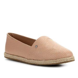 Sapatilha Shoestock Flat Corda Couro Matelasse