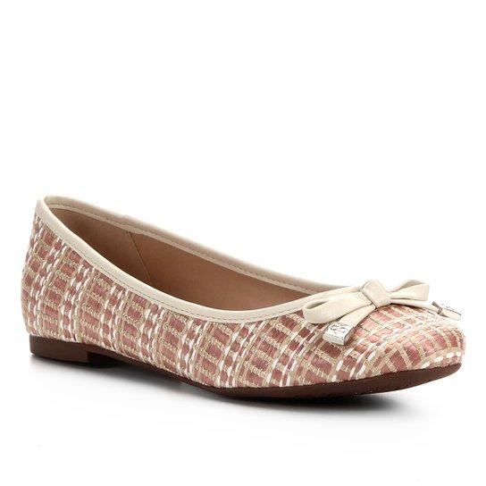Sapatilha Shoestock Laço Ráfia - Coral