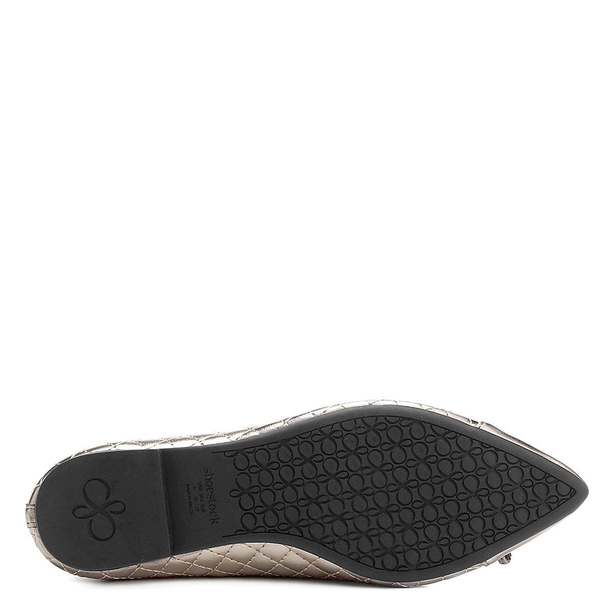 Fino Chumbo Sapatilha Shoestock Shoestock Bico Matelassê Sapatilha wxYXzHqZ