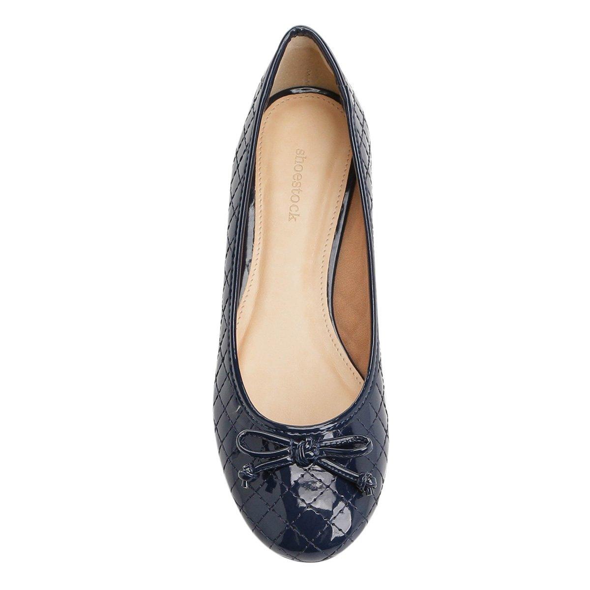 Sapatilha Feminina Sapatilha Verniz Shoestock Shoestock Matelassê Marinho qdHfUTwU