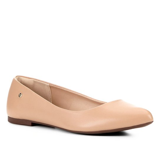 Sapatilha Shoestock Naked Bico Fino Feminina - Noz