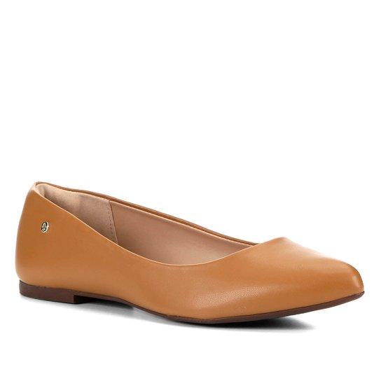 Sapatilha Shoestock Naked Bico Fino Feminina - Castanha