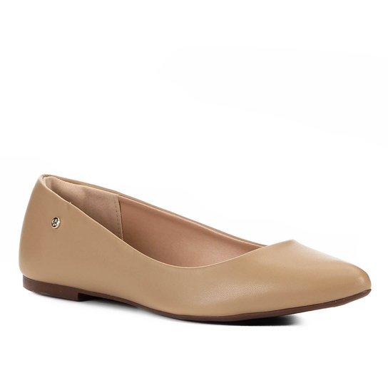 Sapatilha Shoestock Naked Bico Fino Feminina - Amendoa