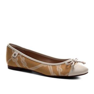 Sapatilha Shoestock Seda Laço Bico Redondo