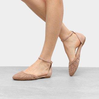 Sapatilha Shoestock Semi Aberta Bordado Feminina
