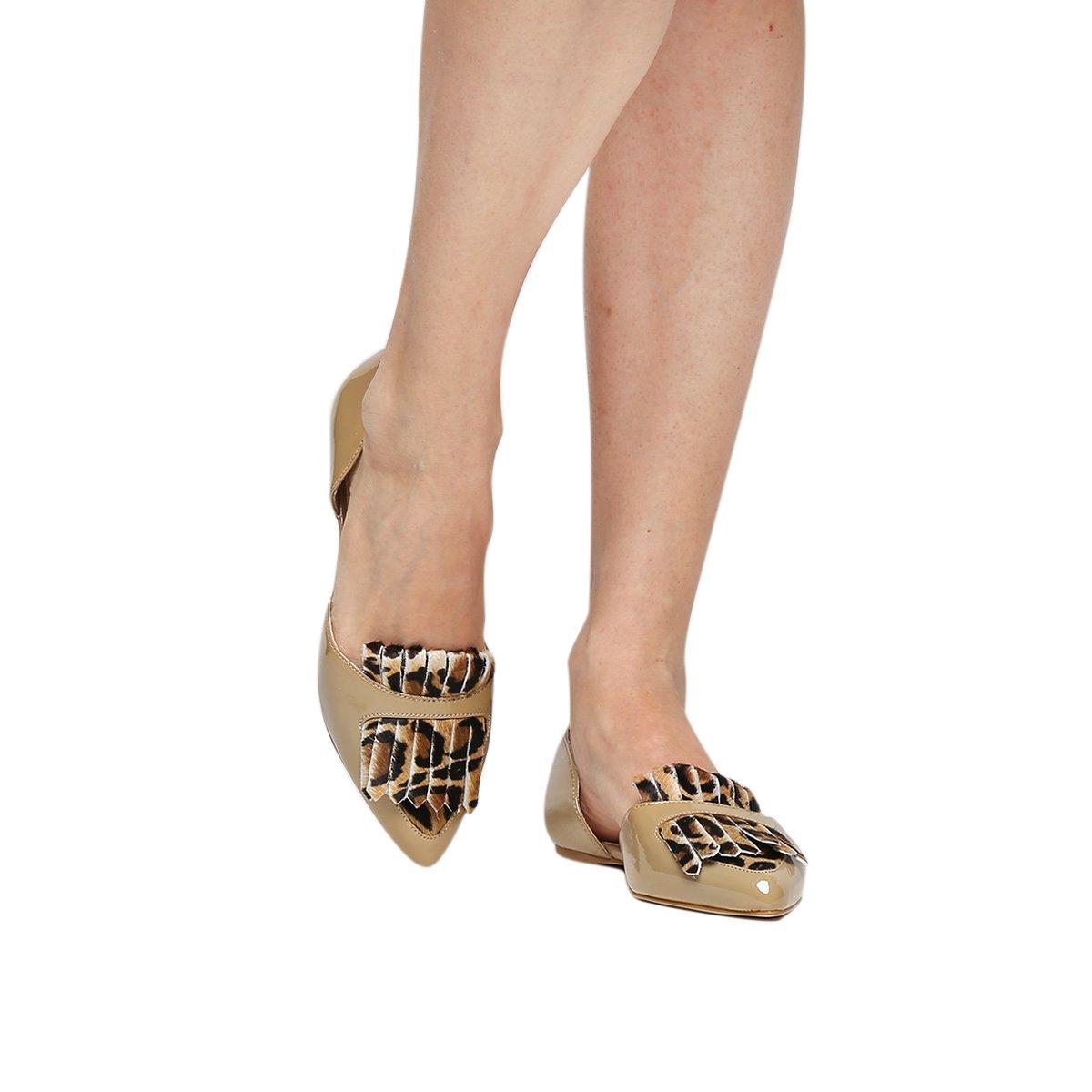 Semi Sapatilha Onça Shoestock Shoestock Franja Aberta Sapatilha Nude rgq8tSg