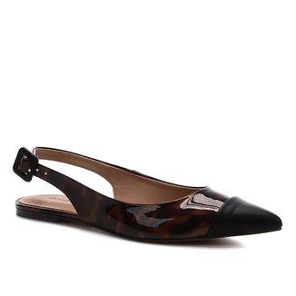 Sapatilha Shoestock Slingback New Tartan Feminina