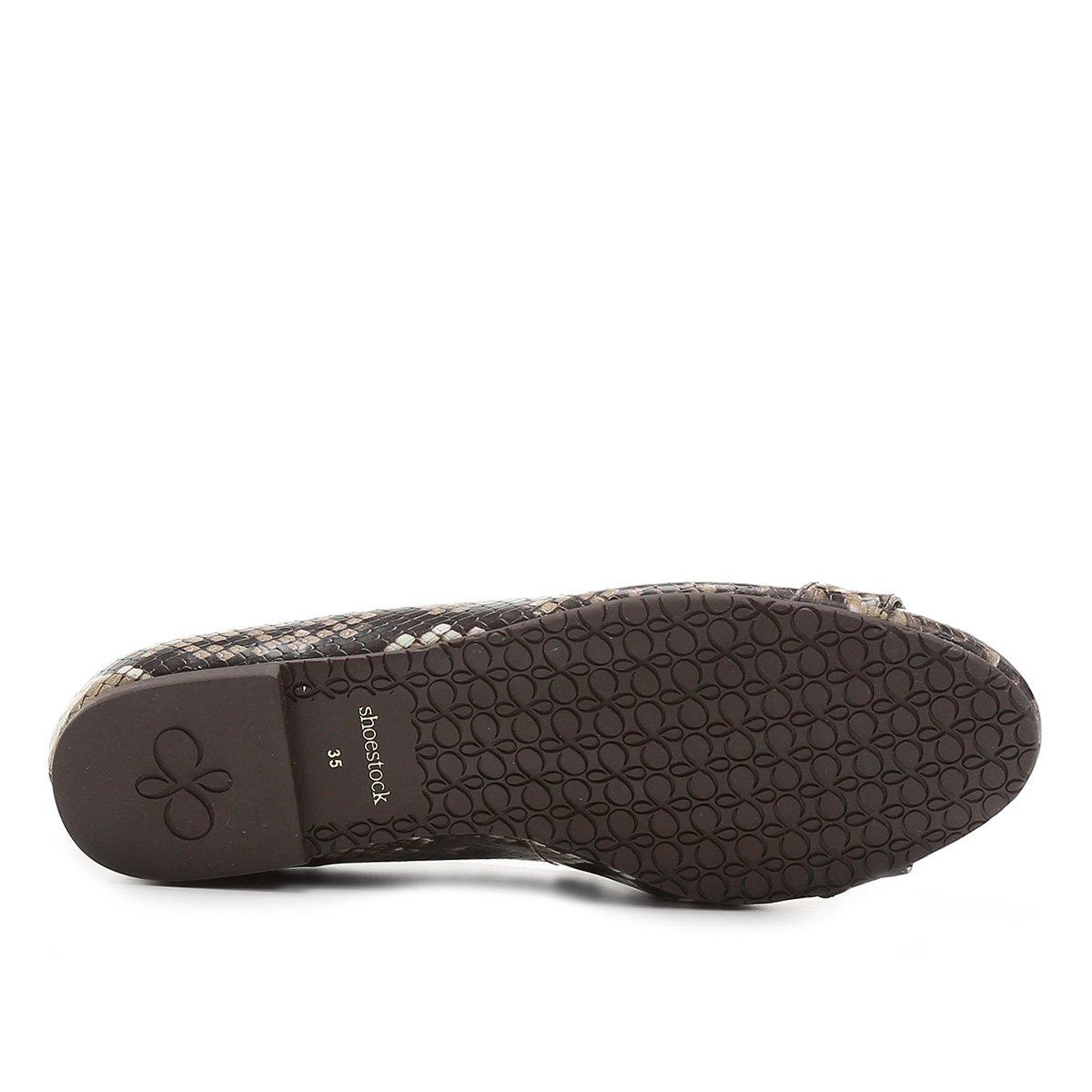 Sapatilha Snake Shoestock Shoestock Bridão Marrom Sapatilha nPzPxZ