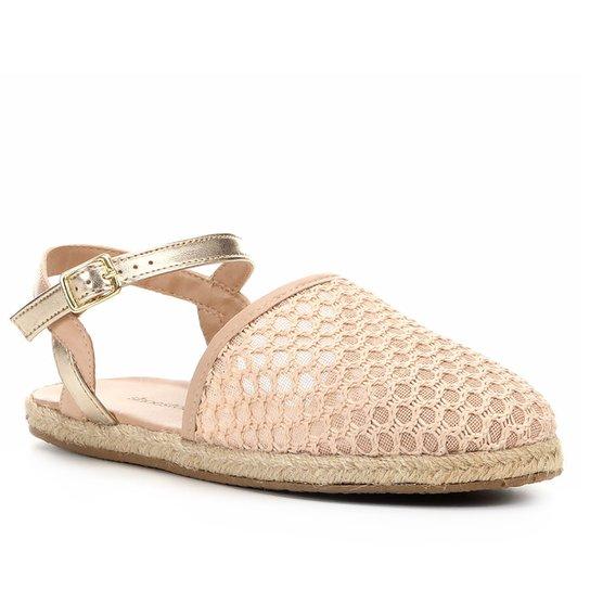 Sapatilha Shoestock Tricot Corda Feminina - Nude