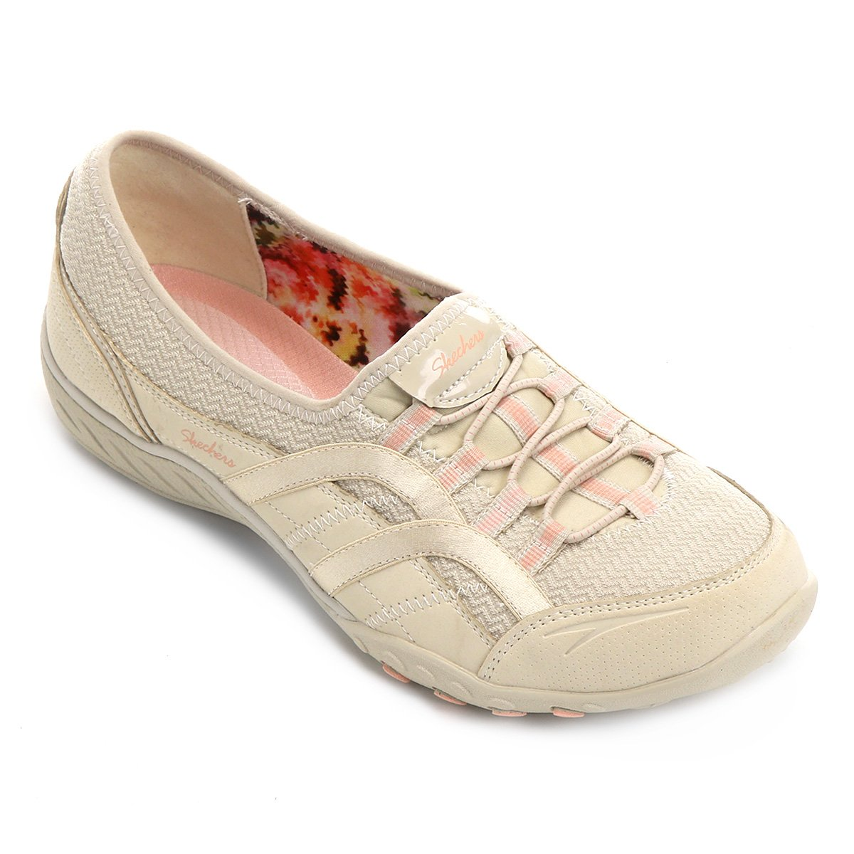 Sapatilha Skechers Breathe-Easy Faithful Feminina - Creme