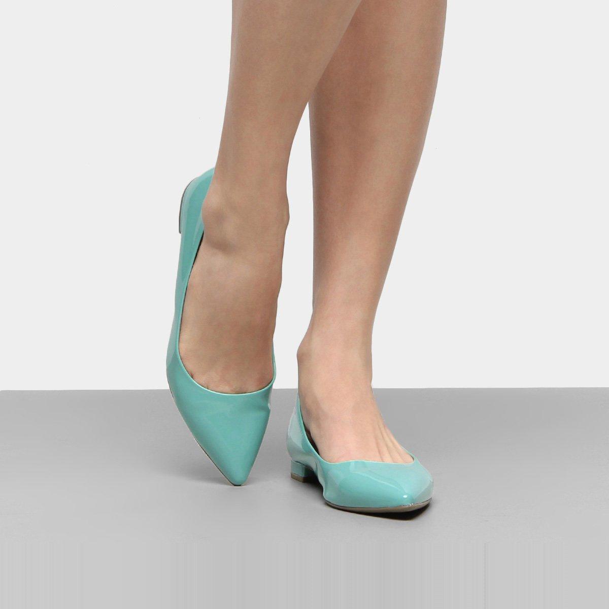 0924b4394 Sapatilha Somoda Verniz Feminina - Azul Claro - Compre Agora
