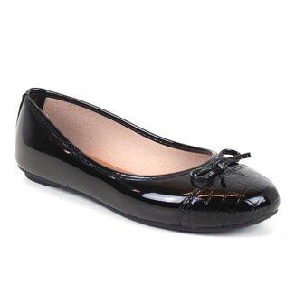 Sapatilha Tag Shoes Croco Laço Verniz Feminino