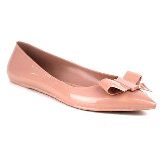 Sapatilha Tag Shoes PVC Laço Bico Fino Feminina