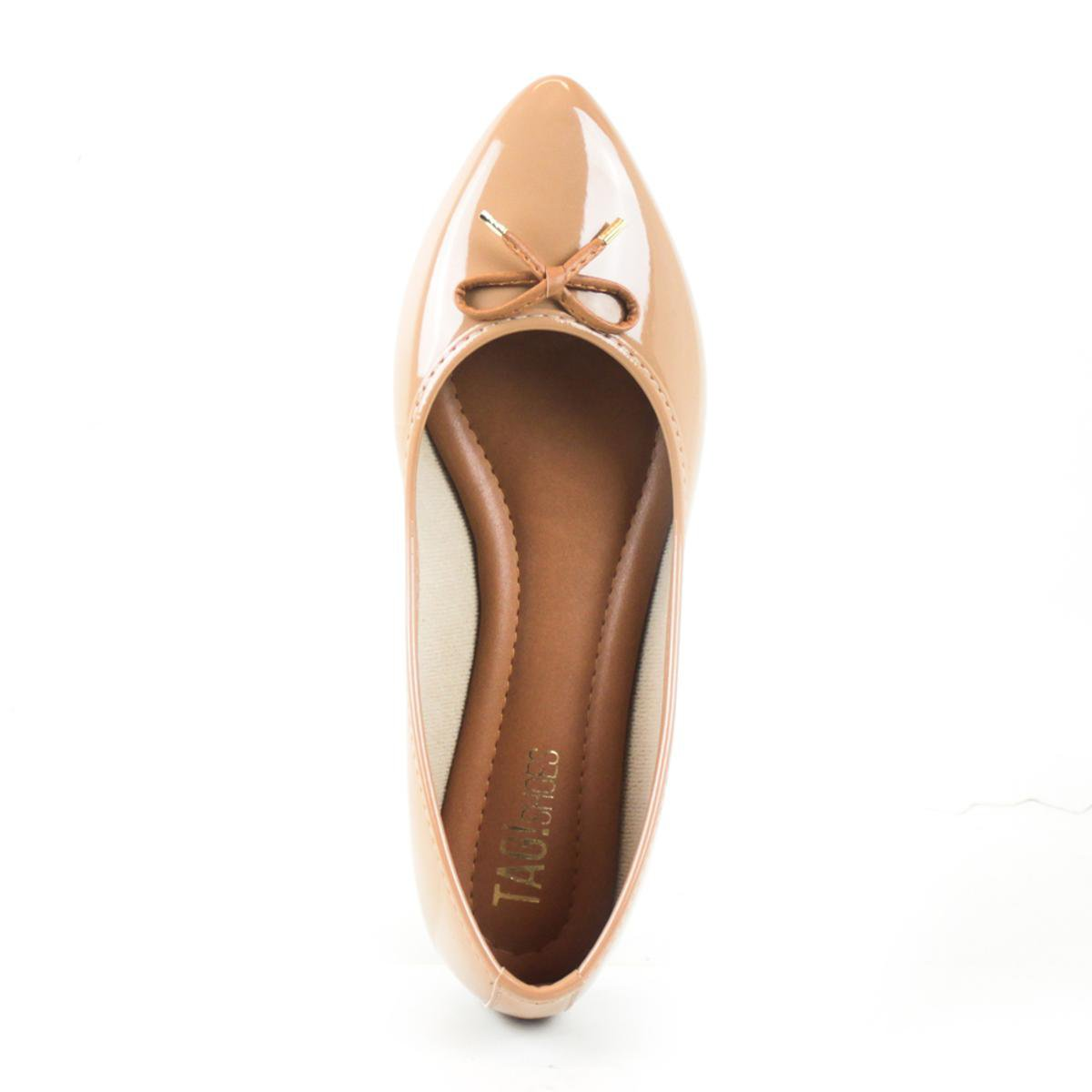Sapatilha Tag Shoes Verniz Feminina - Nude