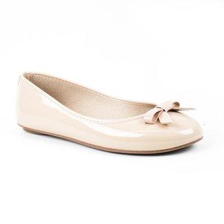 Sapatilha Tag Shoes Verniz Laço Bico Redondo Feminina