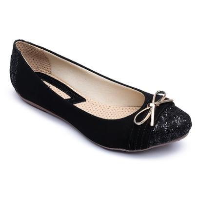1965cb35316 Sapatilha Top Franca Shoes Laço Feminina-Feminino