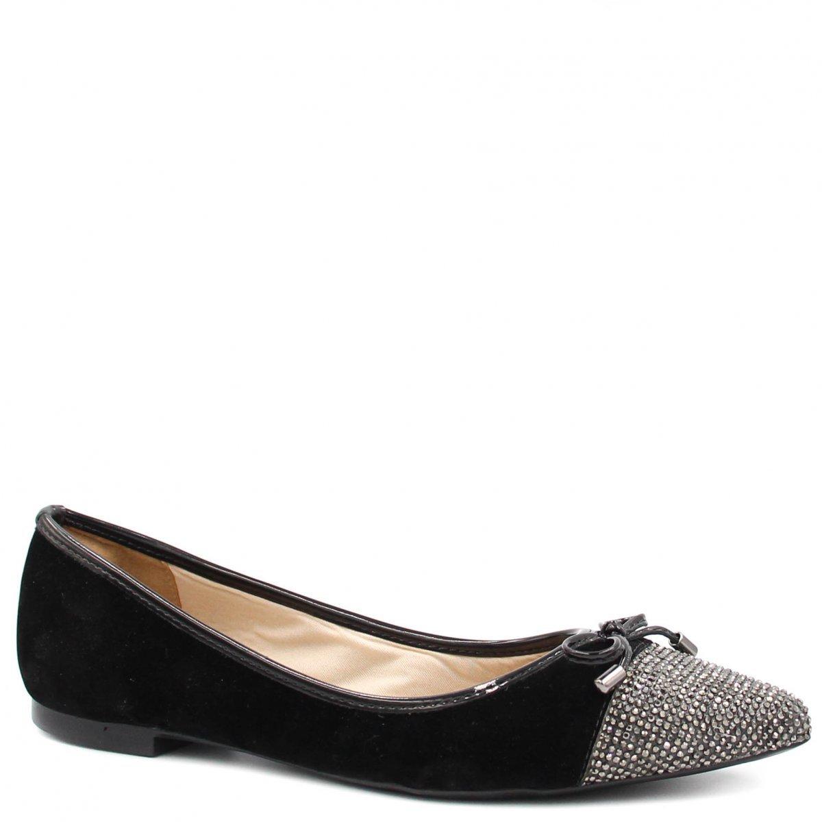 Laço Shoes Sapatilha Sapatilha Preto Zariff Laço Pedras Zariff Shoes Feminino OxZPpw