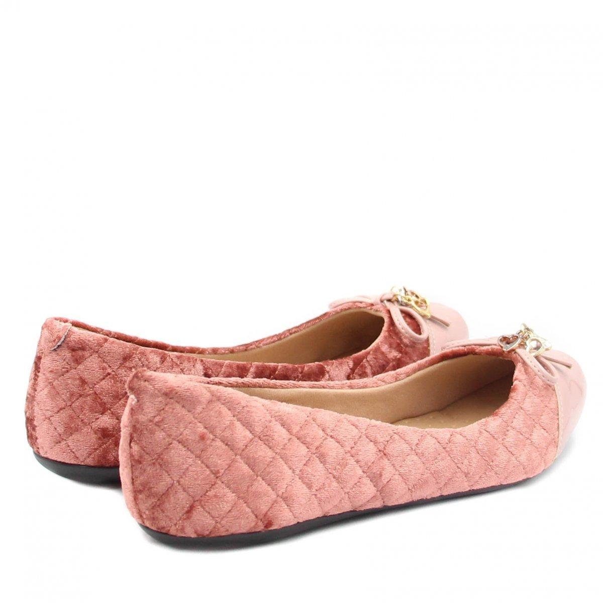 Matelassê Verniz Feminina Zariff Shoes Sapatilha Zariff Nude Sapatilha qwXpI6C